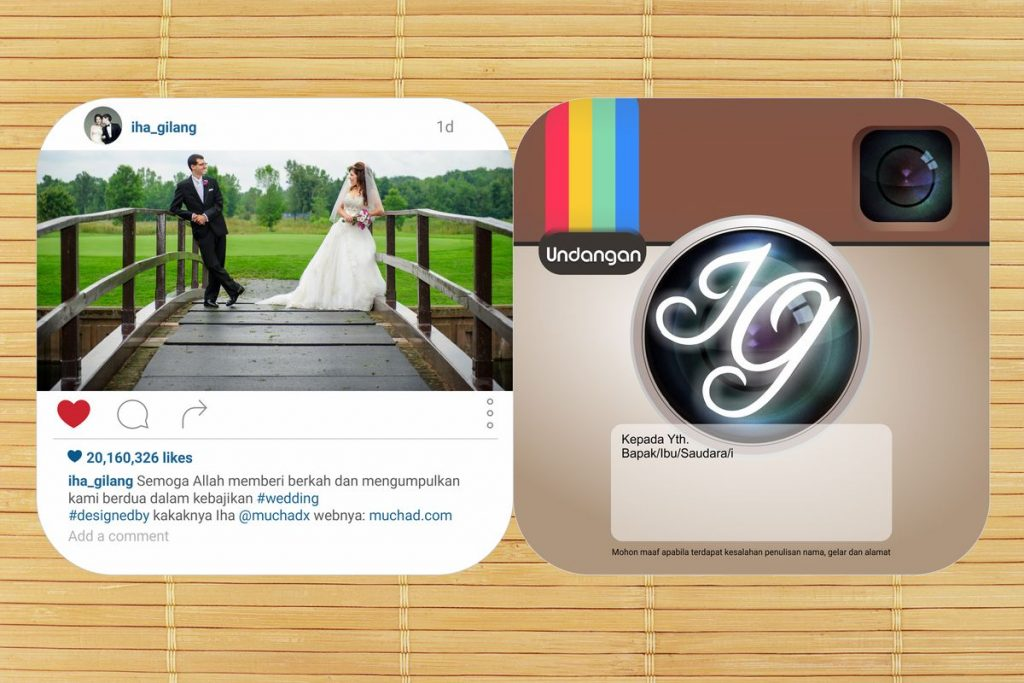 desain undangan unik model instagram by muchad